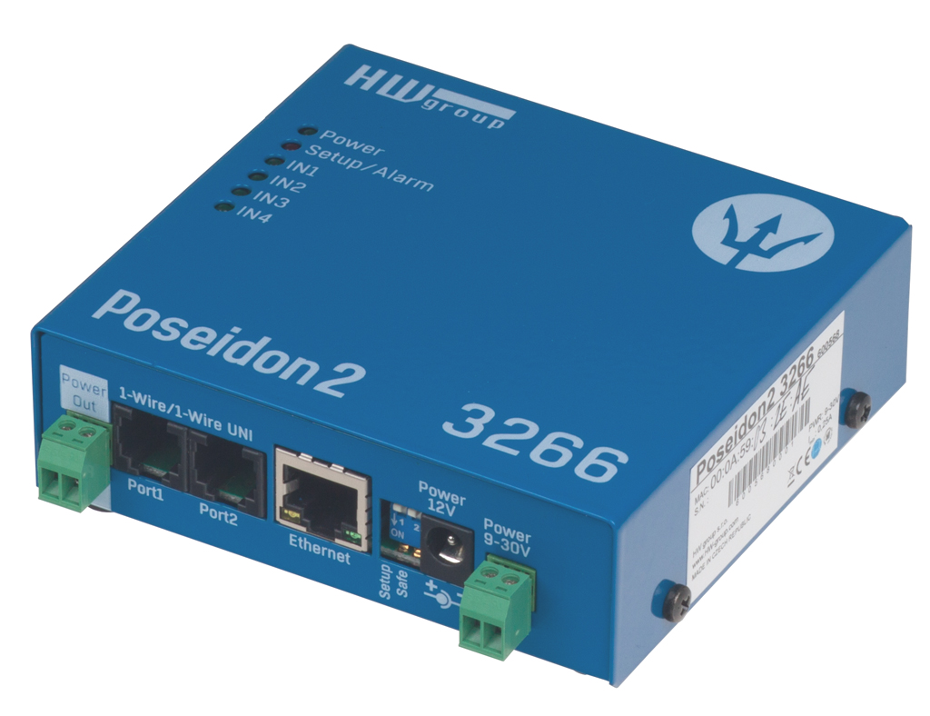 HW group Poseidon2 3266: Remote sensor monitoring over LAN