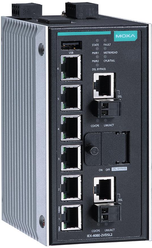 MOXA IEX-408E-2VDSL2 Series
