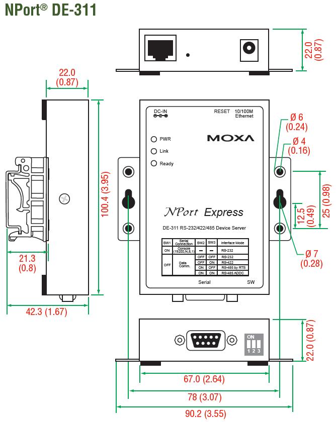 Moxa nport express de-311