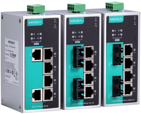 MOXA EDS-P206A-4PoE Series
