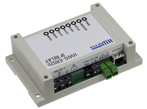 HW group IP Relay ER02b: Web relay + full serial port over IP