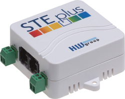 HW group STE plus: Ethernet thermometer with Digital Inputs
