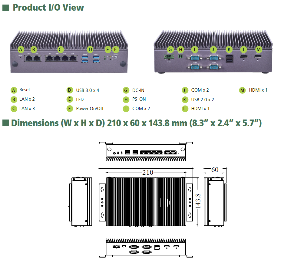 ... the LEC-2580 offers six 10/100/1000 Mbps Ethernet ports while the  LEC-2580P, a variant of the LEC-2580, comes with two 10/100/1000 Mbps  Ethernet ports ...