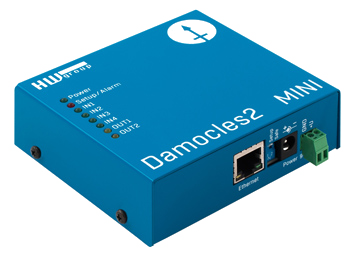HW group Damocles2 MINI: LAN device with digital inputs and outputs (relays)