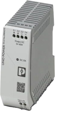 Perle UNO-PS/1AC/5DC/40W Single-Phase DIN Rail Power Supply