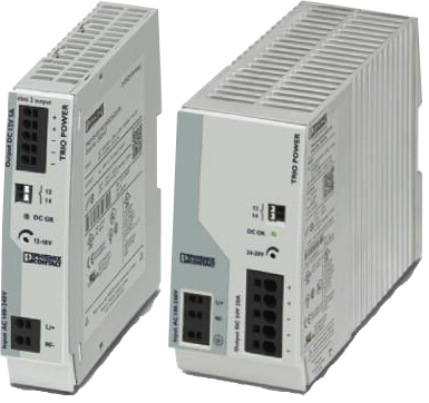 Perle TRIO-PS-2G/1AC – Single Phase DIN Rail Power Supply